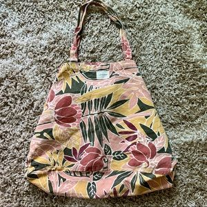 Sezane Bags - SEZANE large canvas tote in tropical print